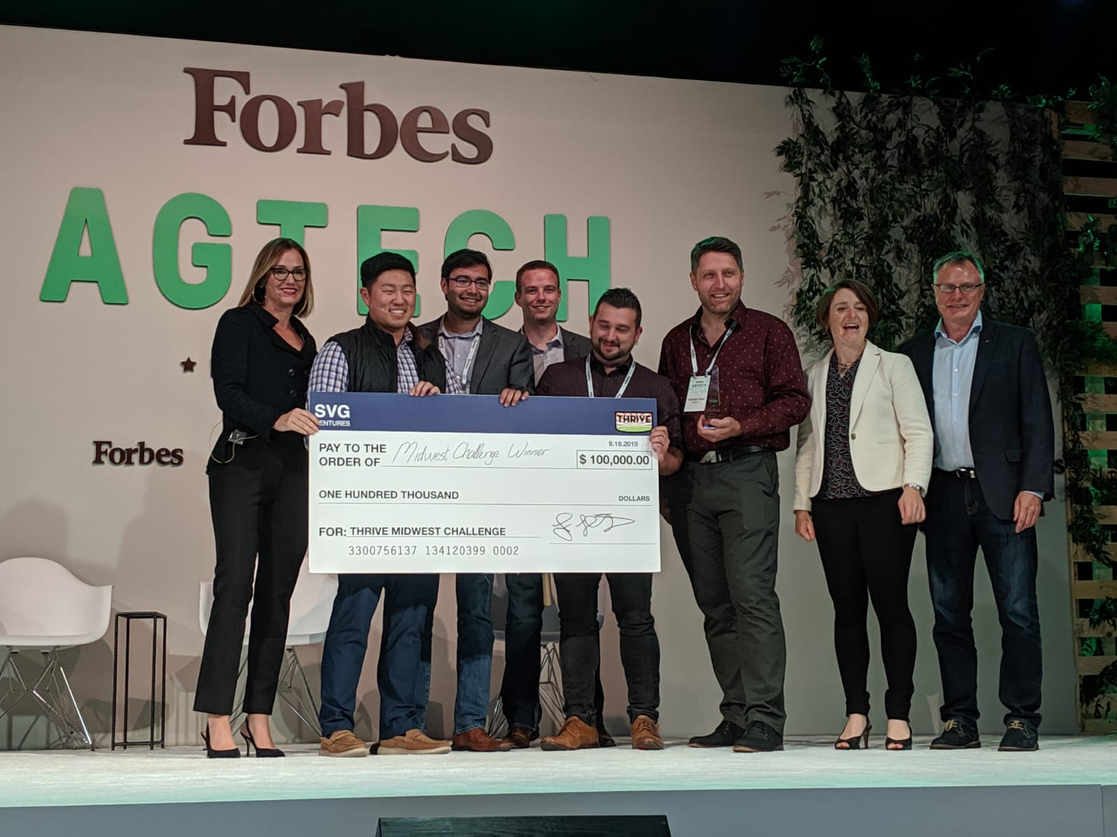 SwineTech and BinSentry Win The THRIVE-Forbes Innovation Icon Award – Including An Investment Of $100,000 From SVG Ventures – At The Forbes AgTech Summit